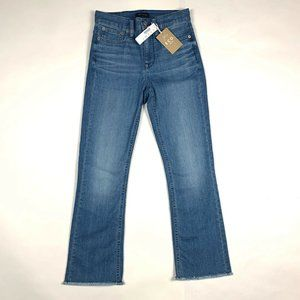 J. Crew Demi-Boot Crop Eco Jeans With Cut Hems